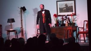 On Stage as Scrooge