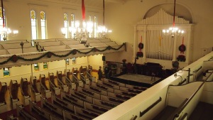 The North Church, with temporary stage
