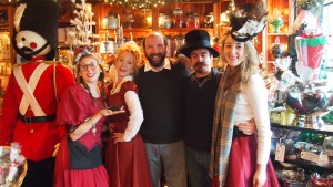 With the staff at Pickwick's Mercantile