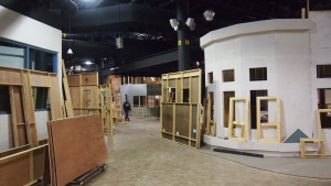 The set in contstruction