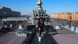 On deck: USS Wisonsin