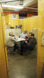 Dinner: l-r Anna, Gary, Judi, Luke