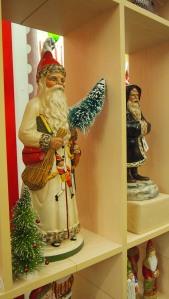 Chalkware Santas